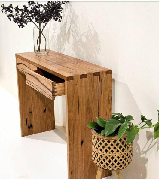 ایده میز کنسول چوبی 2020