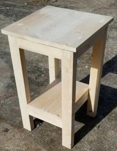 میز چوبی , چهارپایه کنار مبل