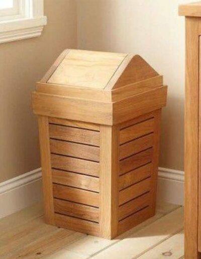 جای سطل زباله , سطل اشغال چوبی