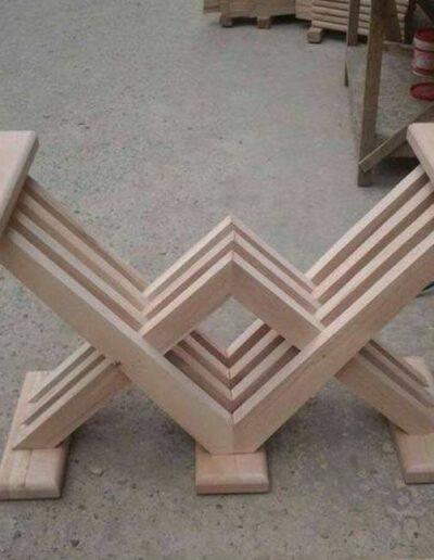 پایه میز تمام چوب ناهارخوری