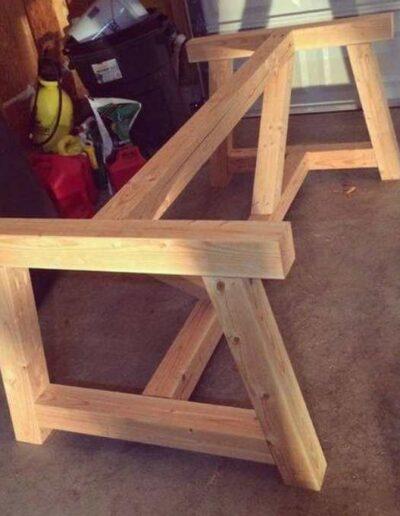 پایه چوبی میز ناهارخوری