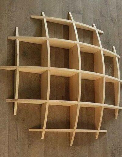 شلف چوبی مدرن