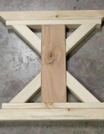 پایه میز چوبی شبیه به حرف x