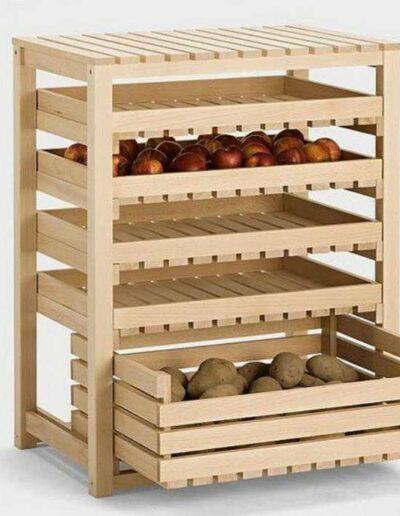 جای سیب زمینی و پیاز , قفسه آشپزخانه