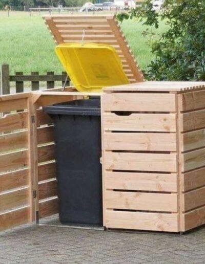 جای سطل اشغال زیبا , کاور چوبی سطل زباله