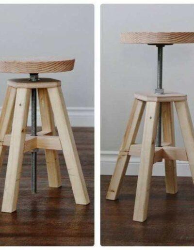 صندلی تنظیم شونده ارتفاع , صندلی گرد