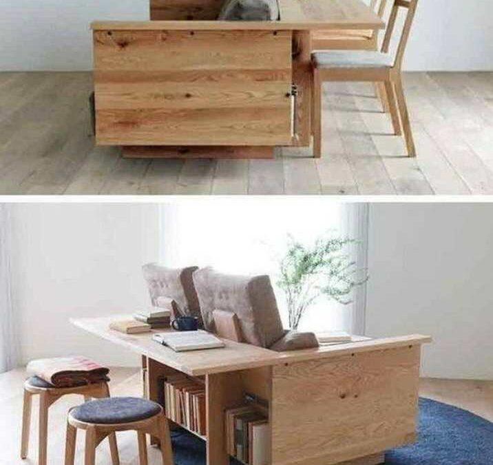 مبل پیشخوان دار چوب بلوط , یک مبل چندمنظوره از میز کار و مبل راحتی