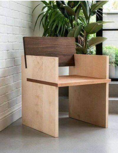 صندلی چوبی جالب و مدرن