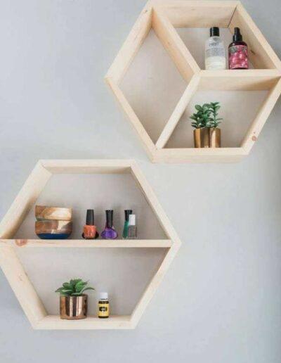 شلف های هندسی ایده ای زیبا برای طبقه بندی و قفسه بندی