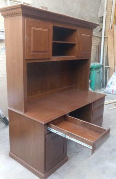 کتابخانه چوبی، چوب راش، ساخت میز تحریر