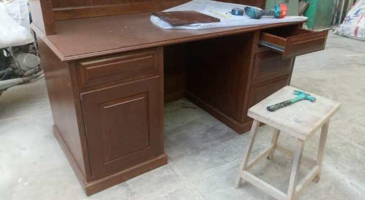 میز تحریر و کتابخانه چوب راش , عکس ارسالی نمونه کار خانم مدنی