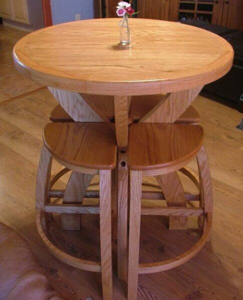 میز و نیمکت کمجا چوب بلوط , میز ناهارخوری تمام چوب