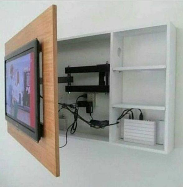 دکوراسیون دیوار تلویزیون و lcd , شلف و کمد دیواری