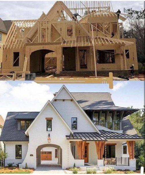 ساختمان چوبی جالب