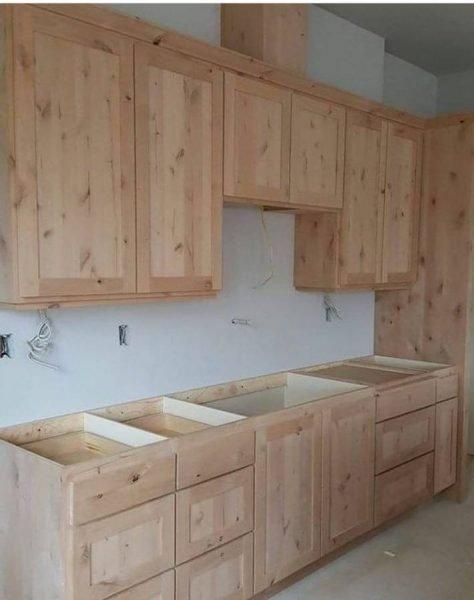 کابینت چوب کاج , دکوراسیون چوبی آشپزخانه