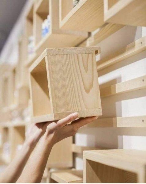 شلف چوبی خلاقانه و جالب