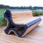 نیمکت جالب و خلاقانه چوبی