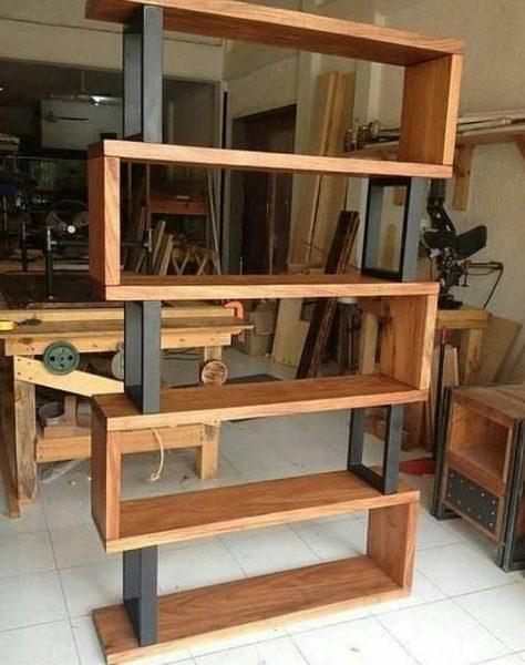 قفسه و شلف جالب چوبی