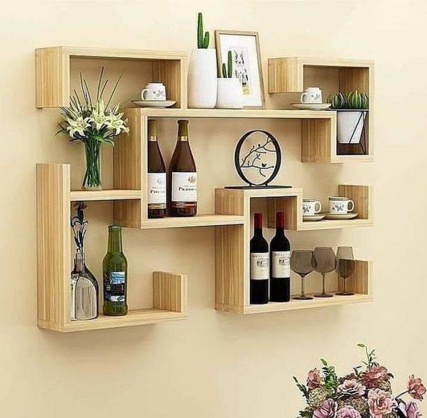 شلف و قفسه چوبی دیواری