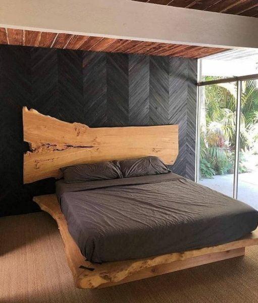 تخت خواب اسلب چوب