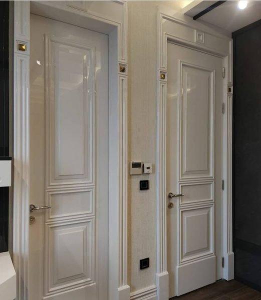 درب چوبی سبک کلاسیک، درب سفید پولیشی