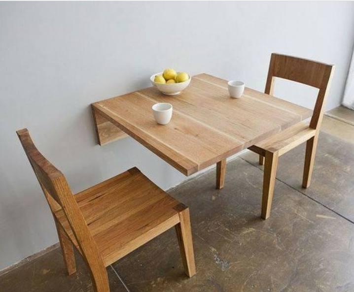 میز دو نفره دیواری تاشو