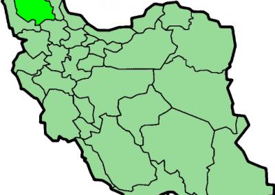 جایگاه شهر تبریز بر روی نقشه ایران