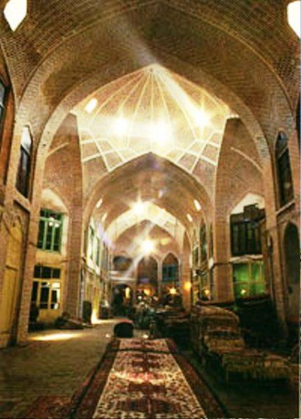 معماری بازار فرش تبریز