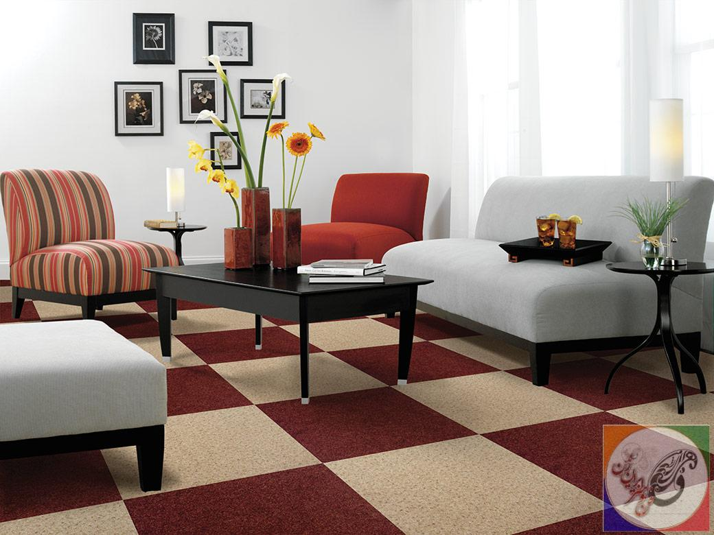 Carpet Tiles Living Room Decorating Ideas
