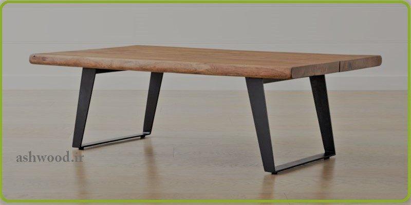 میز قهوه خوری , پایه فلزی با صفحه تخته روستیک