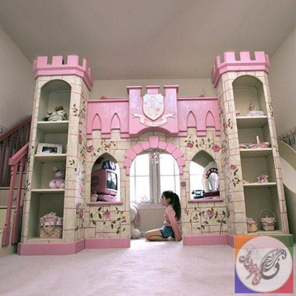 دکوراسیون اتاق کودک قلعه صورتی