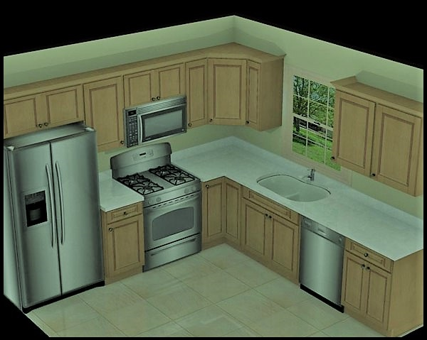 آشپزخانه های L شکل , این آشپزخانه بسیار محبوب و انعطاف پذیر است