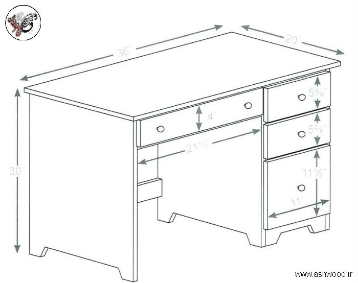ابعاد استاندارد دفتر کار و میز تحریر