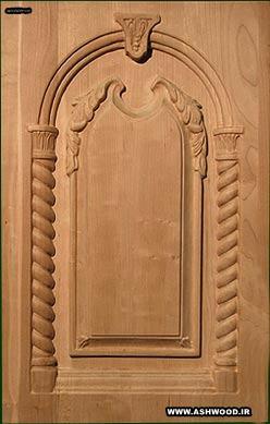 ساخت درب چوبی کابینت و ورودی ساختمان ، دکوراسیون چوبی آشپزخانه