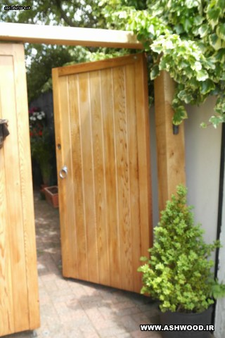 درب چوبی روستیک ویلایی