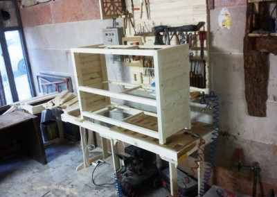 عکس مراحل ساخت کنسول چوبی