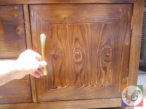 کنسول چوبی عکس دستگیره کلاسیک برنزی رنگ