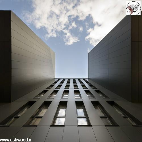 hpl نمای ساختمان با اچ پی ال طرح ترمووود