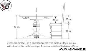 استاندارد ابعاد میز ناهارخوری ایده عال چوبی