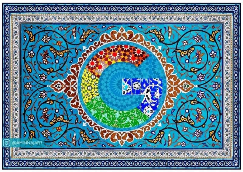 طرح اسلیمی  ایرانی در پروفایل اینستاگرام گوگل