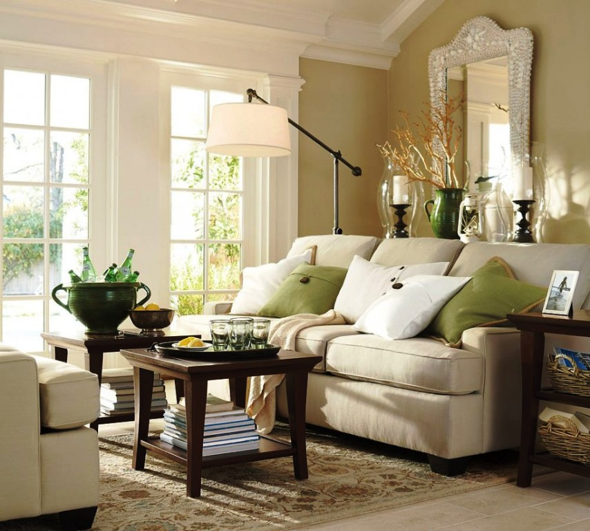 ایده های بیشتر برای دکوراسیون کلاسیک و سنتی الهام بخش: ایده های تزئین اتاق خانواده هیجان انگیز با رنگ سبز , سفید و کرم
