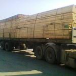 تخته خارجی - ترانزیت چوب از روسیه به ایران - چوب راش برش خورده از یک تنه درخت و بسته بندی بصورت رابند
