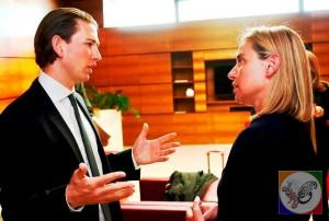 دیدار با زباستیان کورتس وزیر خارجه اتریش.
