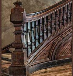 راه پله چوبی آنتیک , جالب و شگفت انگیز از پله چوبی