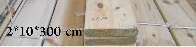 چوب چهار تراش 2*10*300 , نیمکتی ضخامت 2 سانت