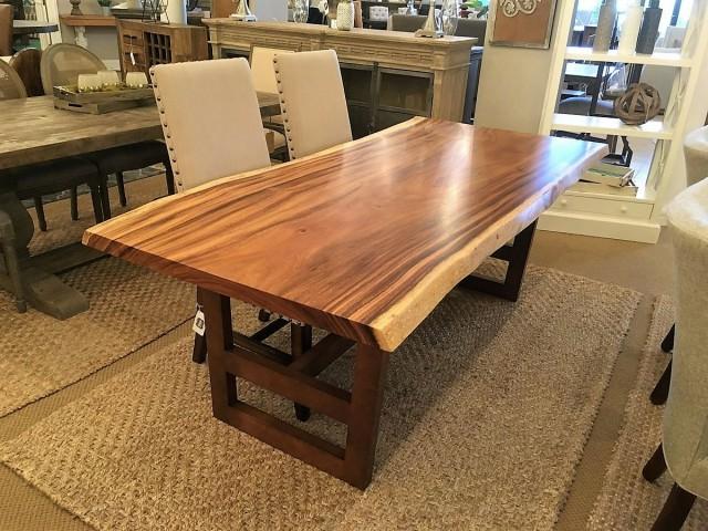 ایده های میز و دکور اسلب از چوب طبیعی