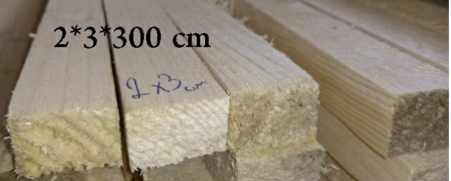 چوب چهار تراش 2*3*300  سانت