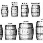 انواع سایز بشکه چوبی