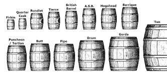 ابعاد و استاندارد های بشکه چوبی