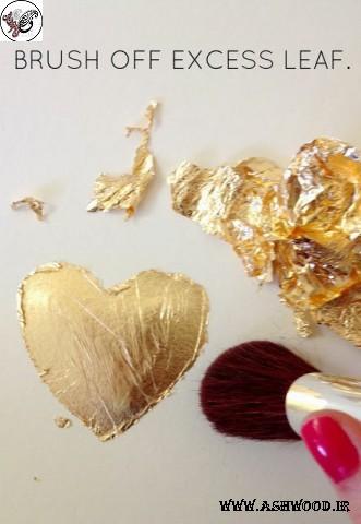 ورق طلا روی مبل + عکس رنگ کاری روی چوب